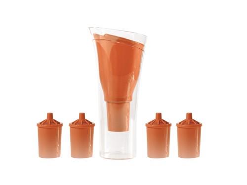 Jarra Purificadora de agua Dvigi Naranja + 4 repuestos