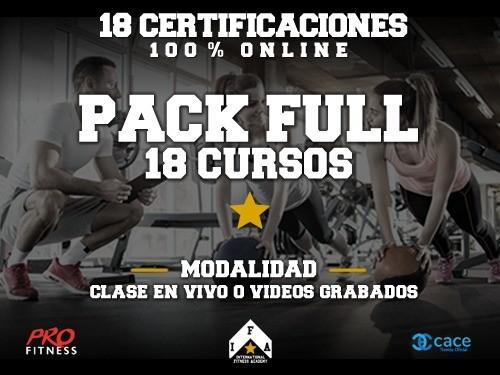 Pack Full 18 Cursos OnLine 73% OFF - 12 Capacitaciones y 6 Talleres