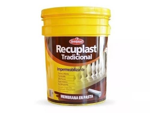 Sinteplast Impermeabilizante  Recuplast Tradicional Blanco x 20 Litros