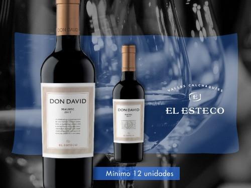 Vino tinto - Don David Malbec 375ml. - El Esteco