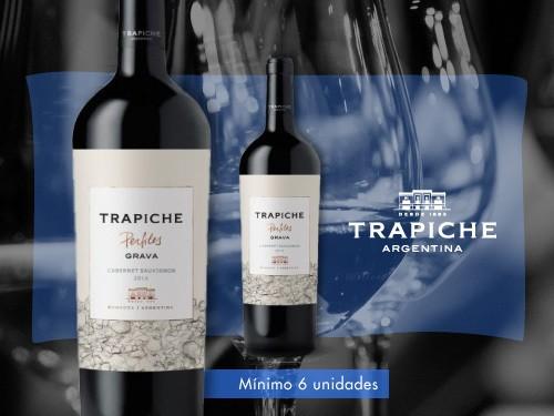 Vino tinto - Trapiche Perfiles Grava Cabernet Sauv. 750 ml. - Trapiche