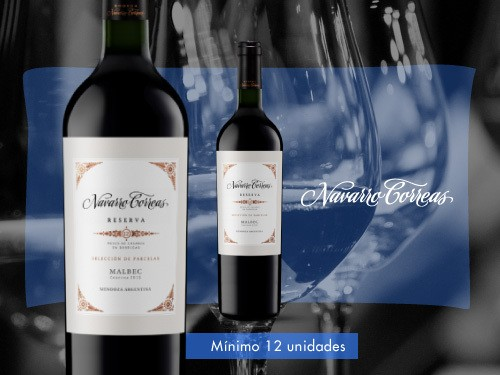 Vino tinto - Navarro Correas Reserva Malbec 375 ml. - Navarro Correas