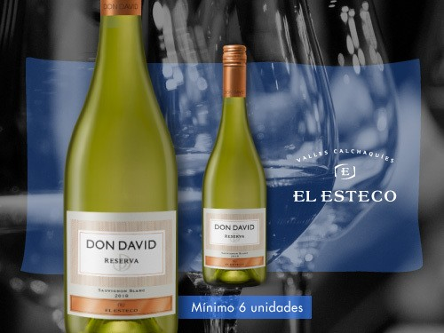 Vino blanco - Don David Reserva Sauvignon Blanc 750 ml. - El Esteco