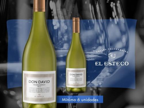 Vino blanco - Don David Chardonnay  750 ml. - El Esteco