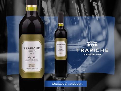 Vino tinto - Trapiche Reserva Syrah 500 ml. - Trapiche
