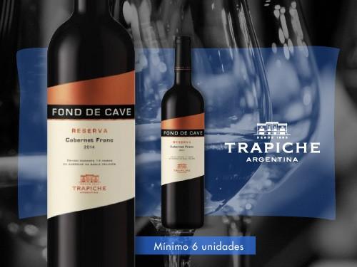 Vino tinto - Fond de Cave Reserva Cabernet Franc 750 ml. - Trapiche