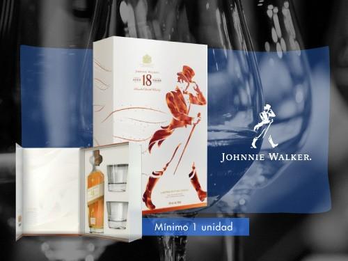 Whisky - Johnnie Walker 18 YO Label + 2 vasos 750ml.