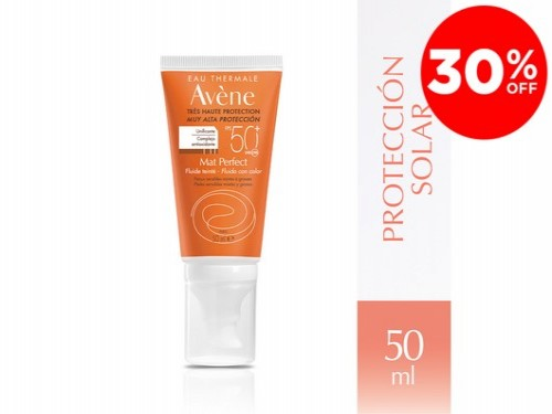 Protector Solar Fluido Color Mat Perfect  Fps 50 + x 50 ml De Avène