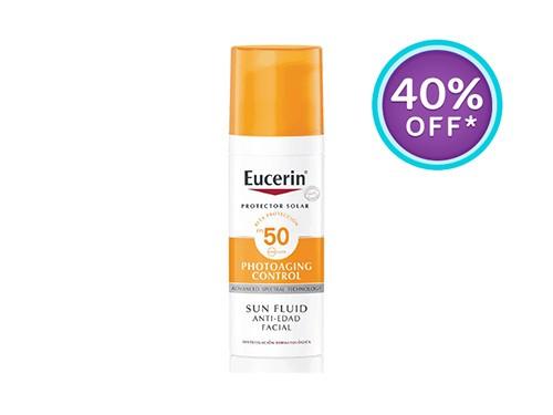 Sun Fluido Facial AntiEnvejecimiento FPS 50+ 50 ml Eucerin