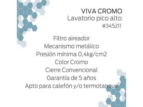 Combo Griferia Baño Hydros Viva Cromo Lavatorio Bidet Ducha 4/4