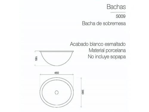 Lavatorio Bacha Piazza Baño Sobre Mesada Porcelana Original