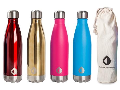 Botella Térmica Reutilizable Pura Honu 500 ml 24hs Frío | 12hs Calor