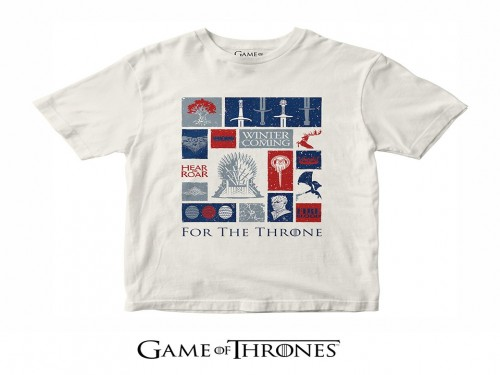 Remera For The Throne - Licencia Oficial Game Of Thrones (GOT)