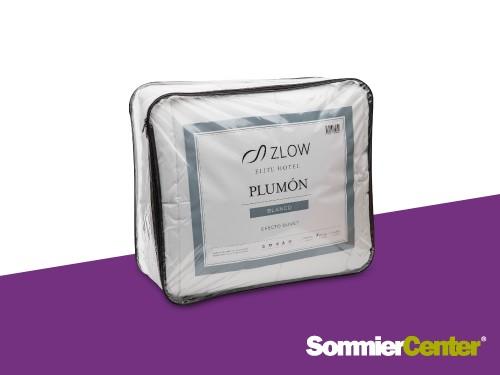 Acolchado Semil Plumón 2 1/2 plazas Blanco Efecto Duvet Zlow
