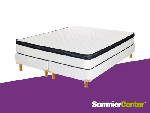 Sommier y colchón Resorte 200x200x25 Europillow Tejido Inducol