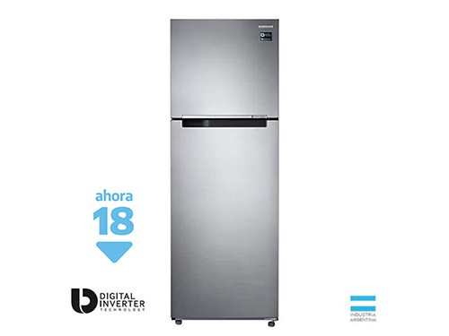 HELADERA SAMSUNG TWIN COOLING PLUS NO FROST 377L RT35 SILVER