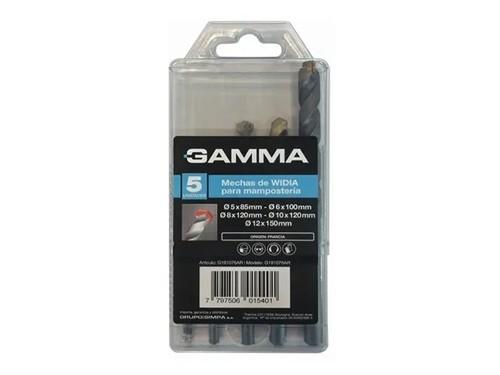Set De 5 Mechas Para Mampostería De Widia G191076 Gamma