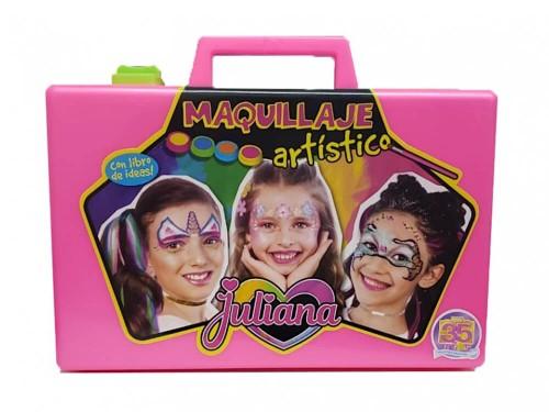 Juliana Valija De Maquillaje C/libro Artistico