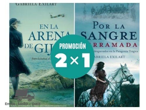 Libros Promo 2x1 En la arena guijon + Por sangre derramada - Exiliart