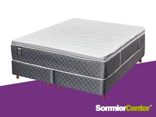 Sommier y colchón Pocket 200x200 Viscoelástico Tejido de Punto Sealy