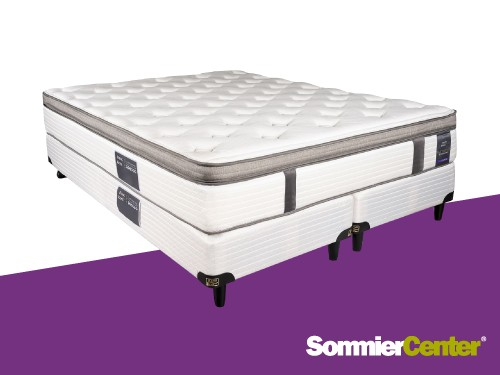 Sommier y colchón Pocket 160x200 ViscoelásticoTejidodePunto KingKoil