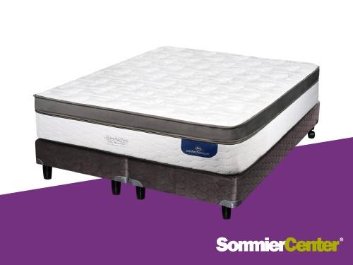 Sommier y colchón Pocket 200x200 Viscoelástico Tejido de Punto Serta