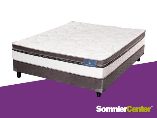 Sommier y colchón Pocket 2 plazas 140x190x29 Serta