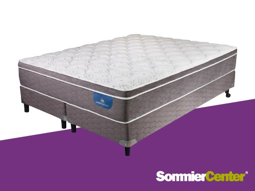 Sommier y colchón Pocket 2 1/2 plazas 160x200x29 TejidodePunto Serta