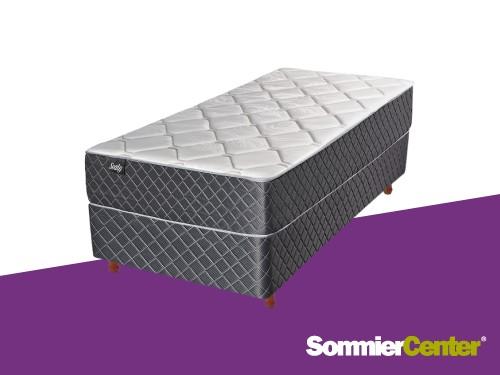 Sommier y colchón Media Densidad 1 plaza 080x190x20 Jackard Sealy