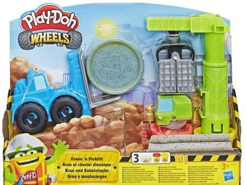 Juego De Masas Play-doh Wheels Grúa Montacargas Hasbro