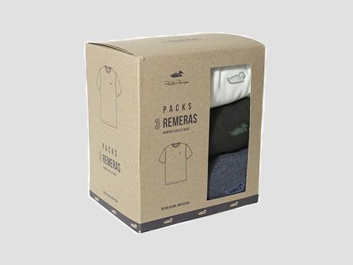 Pack x 3 Remeras Lisas Blanco Negro Azul Pato Pampa
