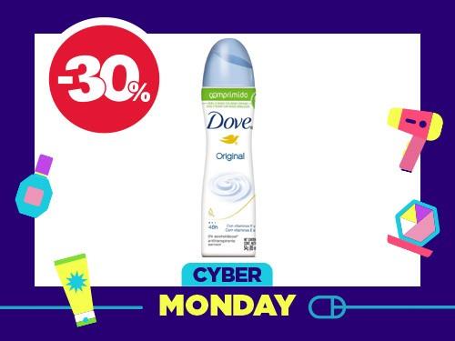 Antitranspirante femenino Dove aerosol comprimido Original x 85 ml