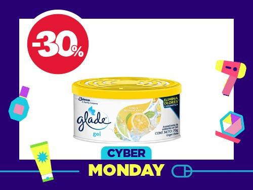 Aromatizante de ambientes Glade Mini Gel Limón x 70 gr