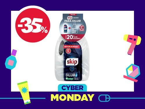 Detergente Líquido Skip para Diluir x 500 ml + Botella Gratis x 3 l