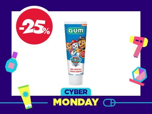 Gel dental para niños GUM Paw Patrol sabor Bubble Gum x 100 Gr