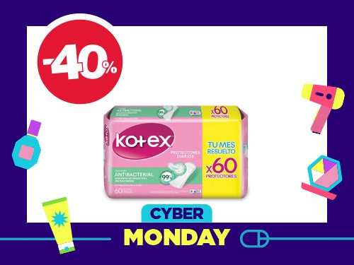 Protectores Diarios Kotex Antibacterial x 60 un