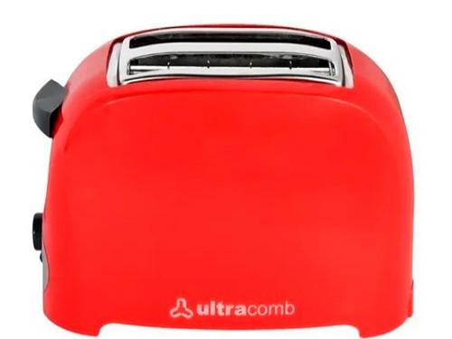 Tostadora Electrica Ultracomb 750w Bandeja Nivel Tostado Pan