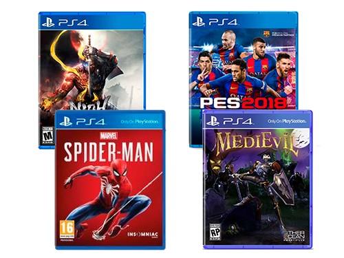 Consola NX18 PS4 CORE 1TB + 4 Juegos Medievil+NIOH2+Spiderman+PES 2018