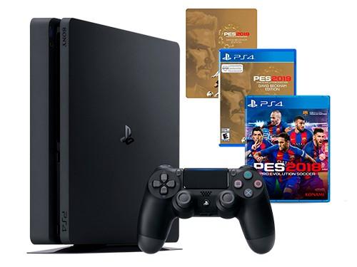 Consola NX21 PS4 Consola 1TB + PES2019 Beckham Steel Book + PES2018