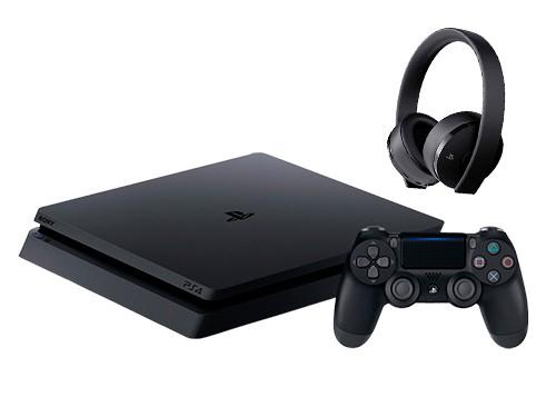 Consola NX22 PS4 Consola 1TB+PES19 Beckham +HEADSET GOLD NEGRO+PES2018