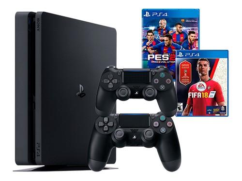 Consola NX23 PS4 Consola 1TB + JOYSTICK + PES 2018 + FIFA Mundial 2018