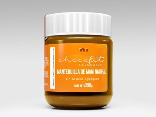MANTEQUILLA DE MANI NATURAL Sin agregados, Sin gluten, Vegana