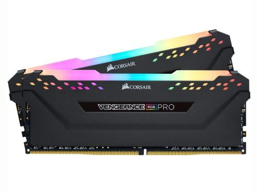 MEMORIA DDR4 32GB (2*16) 2666MHZ CORSAIR VENGEANCE RGB PRO BLACK