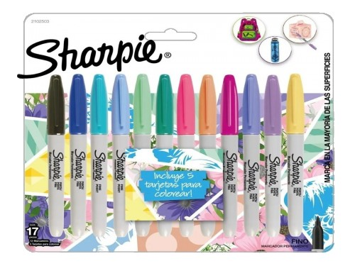 Marcadores Finos Sharpie Tropical 12 Un