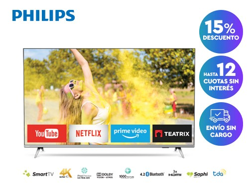 Smart TV Philips 4K 55PUD6654/77
