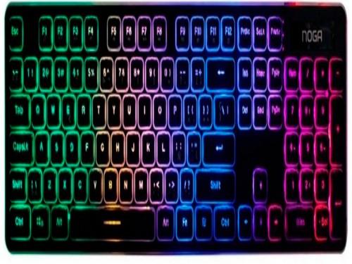Teclado Noganet Gamer-Office-Retro iluminado
