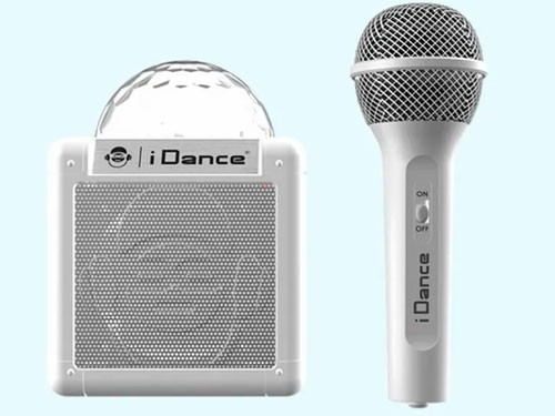 I Dance Cube Sing Micrófono Karaoke + Parlante 100 Blanco