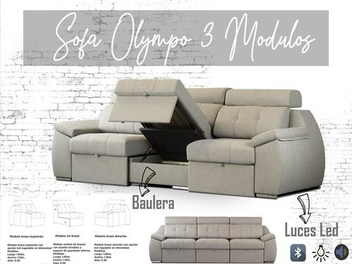 Sofa Sillon Olympo con Asientos deslizables y Apoyacabeza