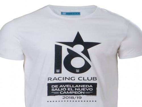Remera Racing Campeón ¨18¨