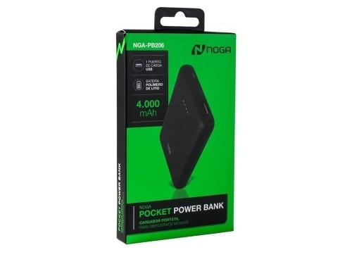 Cargador Portatil Bateria Celular Power Bank Usb Noga Pb206
